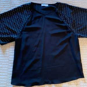 Bailey 44 metal grommets silk blouse S
